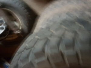 Set of mud tires with rims