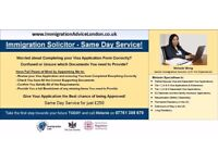 IMMIGRATION SOLICITOR - UK Visa Advice, Same Day Service! - Spouse Visa, Tier 1, 2, 4 & 5, EEA, ILR
