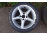 Set of Clio 172 182 track alloy wheels slicks