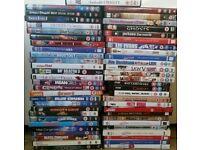 Job lot of 55 dvds loads of good titles