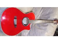 LEGACY Electro-acoustic guitar = built in pickup/pre-amp/e.q. = Good condition. Clean and restrung