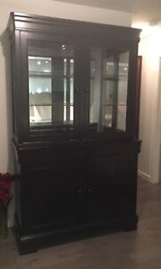 Dark brown hutches(display cabinet)