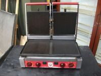 6 DOUBLE PANNINI GRILL 5 in good working order 1 spares or repair