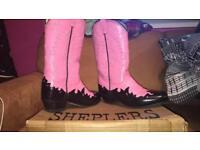 Shepler cow boy boots size 6
