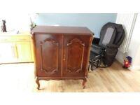 Elegant Polished Regency Style Drinks or TV Cabinet