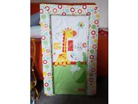 Fisher Price Giraffe Friends Changing Mat