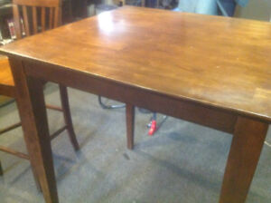 High pub-style table and 4 chairs