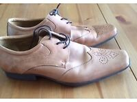 Clarks Brown Brogue type shoes size 8