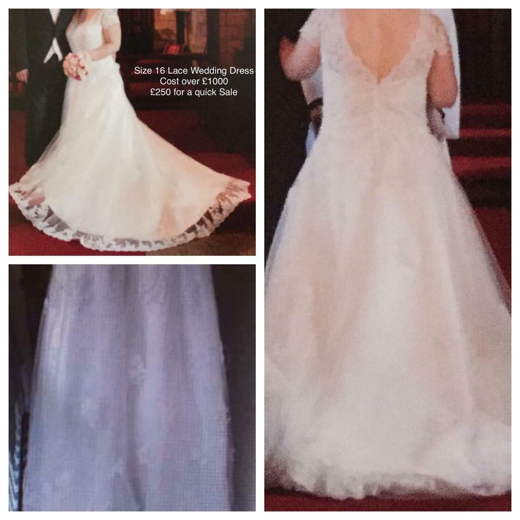 Wedding Dress and Bridesmaid Dressin Kings Lynn, NorfolkGumtree - A beautiful Ivory lace dress worth over £1000 selling cheap Size 16 would fit someone within the 5ft mark and also a Pink Bridesmaids dress Never Worn from The Debut collection Debenhams also size 16. Any questions please ask. Thanks Payment through...
