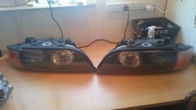 Bmw e39 OEM Headlights. Pre facelift left and right xenon