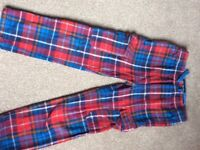 Boden tartan trousers size 7 years