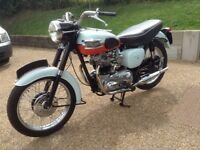 Triumph Bonneville T120 Tangerine Dream 1959 fully restored.