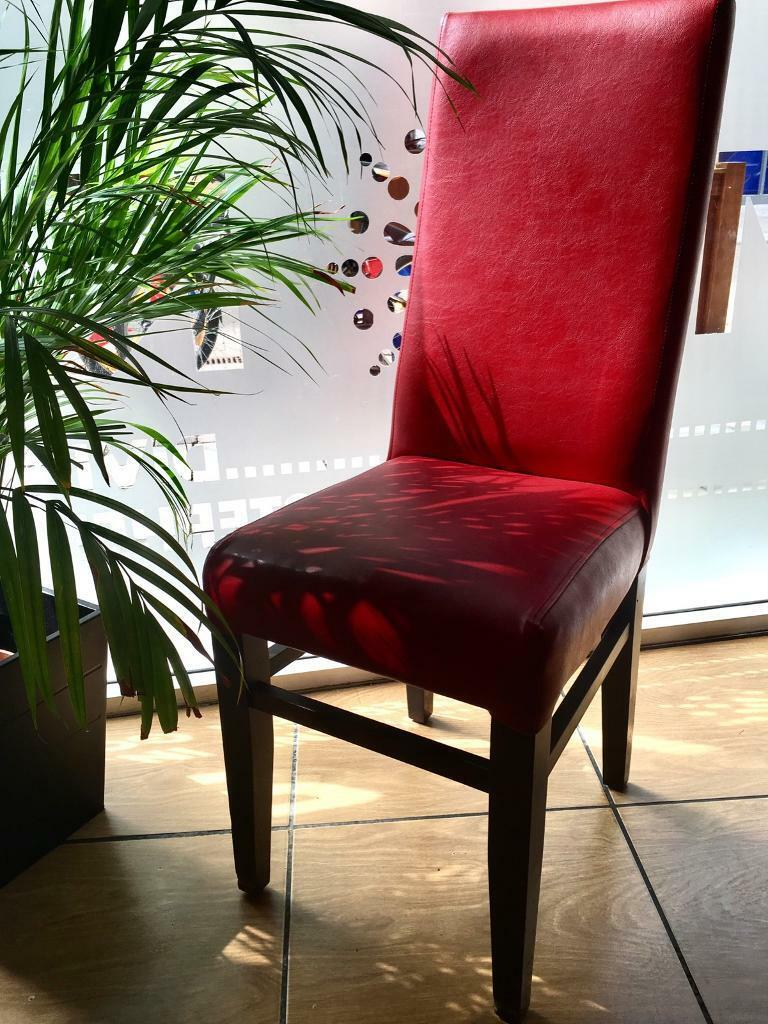 70 Red Leather Dining Chairs