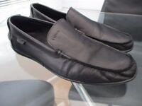 Mens Lacoste leather shoes size 8/eu 42 black