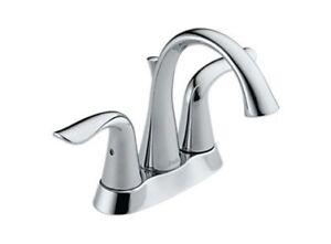 "Brand New - Delta Faucet - Chrome Lahara 4"" Centre Set"