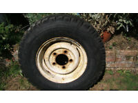 750R16 tyre and wheel for Defender, tyre with little use. £40