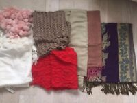 bundle of shawls and pashminas