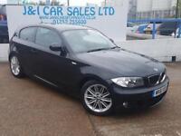 BMW 1 SERIES 2.0 118I M SPORT 3d 141 BHP A GREAT EXAMPLE INSIDE (black) 2011