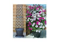 TOWER PLANT POTS WITH BUILT-IN TRELLIS