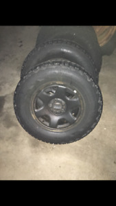 Winter tires and rims were on a ford escape 2011