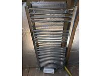 New chrome bathroom towel rail curved