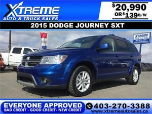 2015 Dodge Journey SXT $139 bi-weekly APPLY NOW DRIVE NOW
