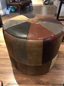 Decorest Leather Stool/Poof