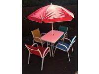 Kids patio garden table set