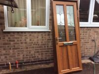 Golden oak front door