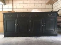2 black sideboards