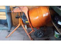 Belle 110Volt Cement Mixer c/w stand. Drumoak, Aberdeenshire