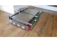 Double panini contact grill