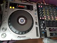 Pioneer cdj 800 mk2 x 2 and denon dnx1500 mixer
