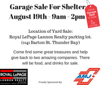 Annual Royal LePage Yard Sale for Shelter