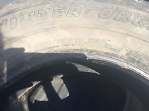 Four Firestone Winter Tires (No Rims)