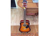 Sunburst 6 string acoustic guitar brilliant condition great player stand capo bargain buy ££££