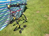 BIKE/CYCLE,CARRIER/RACK, HIGH MOUNT, FOR UP TO 3 BIKES/CYCLES, IN GOOD CONDITION, COMES WITH ALL