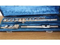 Yamaha YFL-22S Silver Flute with hard Case - Good working order