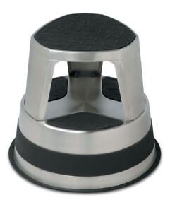 Black Friday Sale only, Stainless Steel Rolling Step Stool