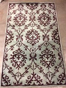 Blue and Brown Chambord Area Rug 5 x 8