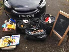 Clearance bargain car boot sale