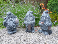 3 working gnomes garden ornaments £15 each