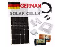 150W 12 volt dual battery solar panel charging kit for motorhome, caravan, boat