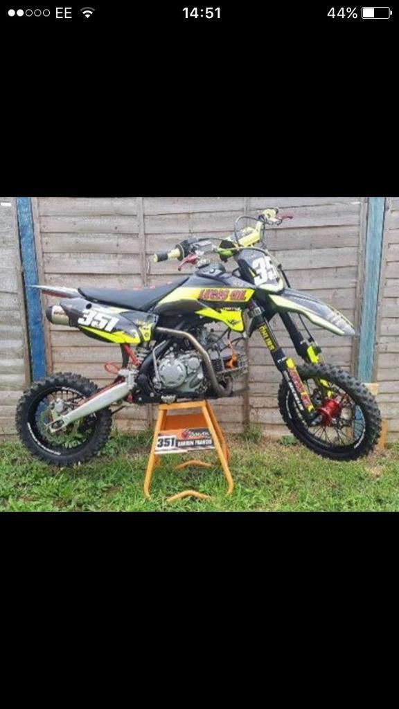 D-link yx160 race prepared pit bike pitbike not cr,Kx,yz,rm,ktm.....ready to go £850 ovno.