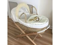 Little rockers Moses basket & stand