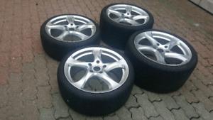 Porsche 911 Turbo Staggered Rims + Tires 295 30 19 &  235 35r19