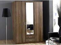 BRAND NEW ***OSAKA 3 DOOR WARDROBE AVAILABLE IN WALNUT & WHITE COLOR - CALL NOW