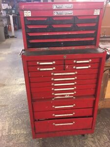 Vintage two part tool chest