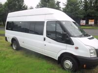 2012 ford transit 17 seater high roof 135 6 speed ex gov ex mod £10000 NO VAT