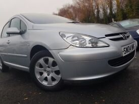 Peugeot 307 2.0 HDI 90 S A/C (silver) 2004